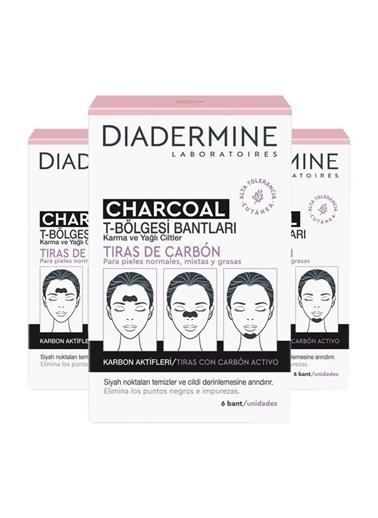Diadermine Diadermine Kömürlü Tbölgesi Bantları 6'Lı 3 Adet Renksiz
